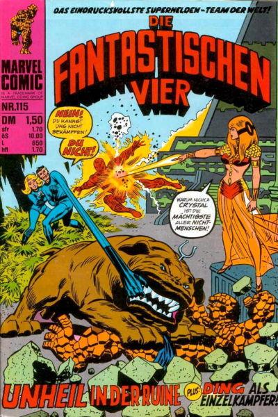 Cover for Die Fantastischen Vier (BSV - Williams, 1974 series) #115