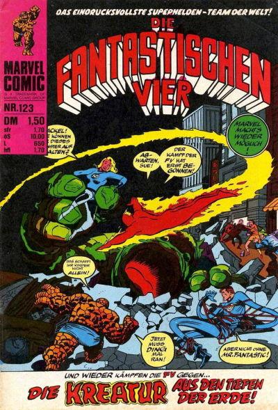 Cover for Die Fantastischen Vier (BSV - Williams, 1974 series) #123