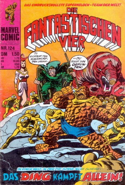 Cover for Die Fantastischen Vier (BSV - Williams, 1974 series) #124