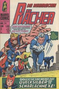 Cover Thumbnail for Die ruhmreichen Rächer (BSV - Williams, 1974 series) #74