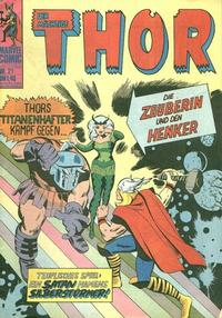 Cover Thumbnail for Thor (BSV - Williams, 1974 series) #21