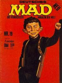 Cover Thumbnail for Mad (BSV - Williams, 1967 series) #19