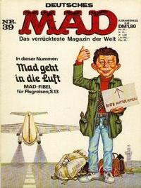 Cover Thumbnail for Mad (BSV - Williams, 1967 series) #39