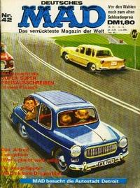 Cover Thumbnail for Mad (BSV - Williams, 1967 series) #42