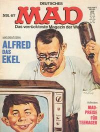 Cover Thumbnail for Mad (BSV - Williams, 1967 series) #67