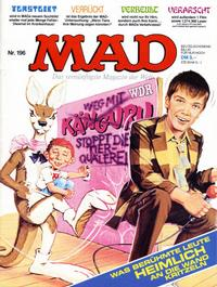 Cover Thumbnail for Mad (BSV - Williams, 1967 series) #196