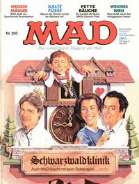 Cover Thumbnail for Mad (BSV - Williams, 1967 series) #203
