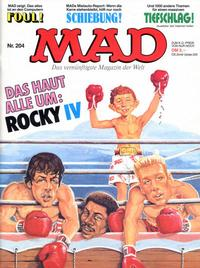 Cover Thumbnail for Mad (BSV - Williams, 1967 series) #204