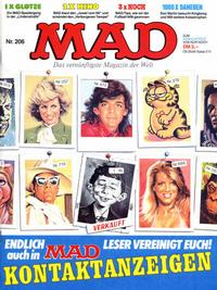 Cover Thumbnail for Mad (BSV - Williams, 1967 series) #206