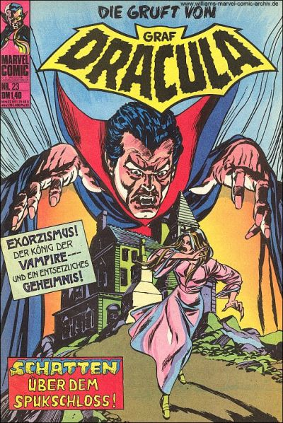 Cover for Die Gruft von Graf Dracula (BSV - Williams, 1974 series) #23