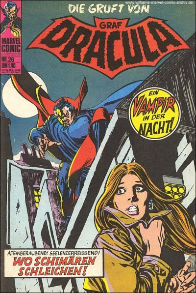 Cover for Die Gruft von Graf Dracula (BSV - Williams, 1974 series) #26