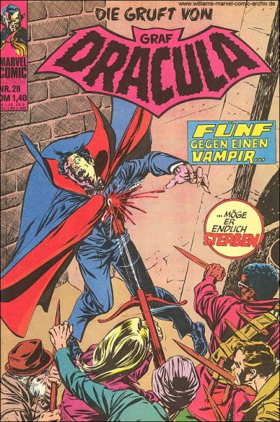Cover for Die Gruft von Graf Dracula (BSV - Williams, 1974 series) #28