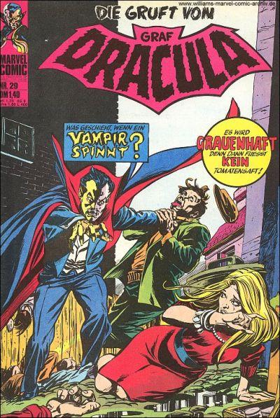 Cover for Die Gruft von Graf Dracula (BSV - Williams, 1974 series) #29