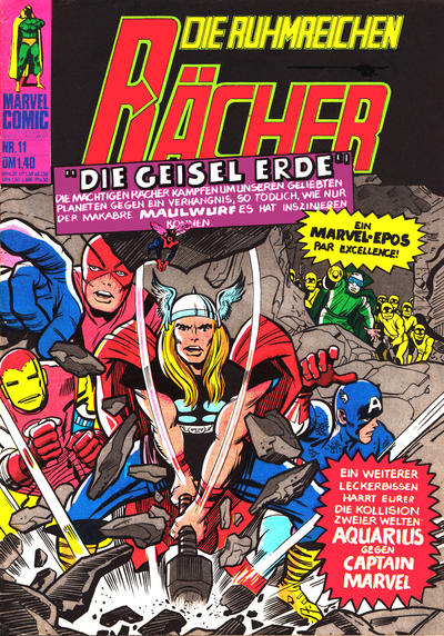 Cover for Die ruhmreichen Rächer (BSV - Williams, 1974 series) #11