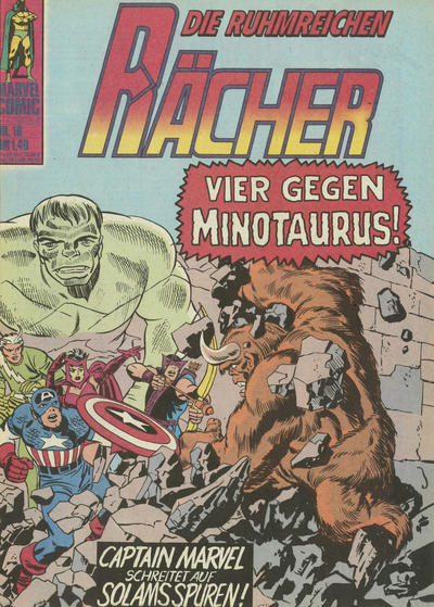 Cover for Die ruhmreichen Rächer (BSV - Williams, 1974 series) #16