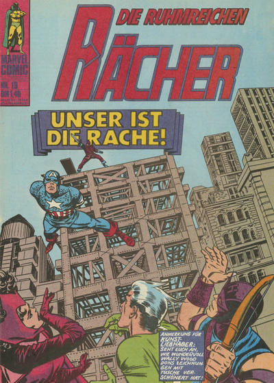 Cover for Die ruhmreichen Rächer (BSV - Williams, 1974 series) #19