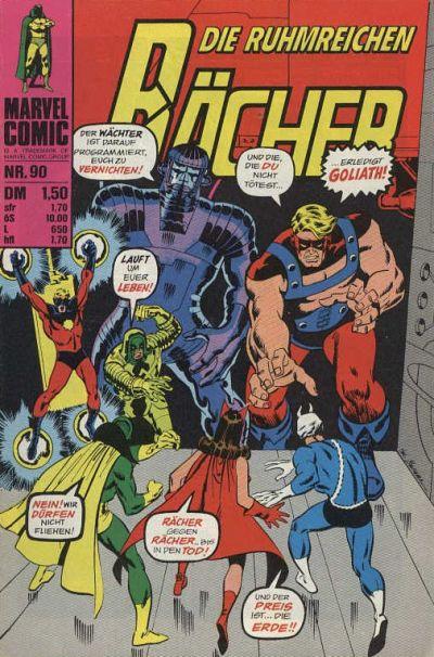 Cover for Die ruhmreichen Rächer (BSV - Williams, 1974 series) #90