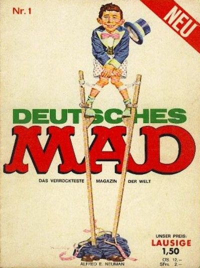 Cover for Mad (BSV - Williams, 1967 series) #1