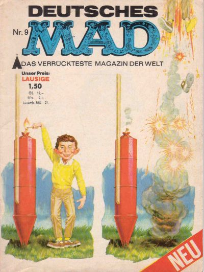 Cover for Mad (BSV - Williams, 1967 series) #9