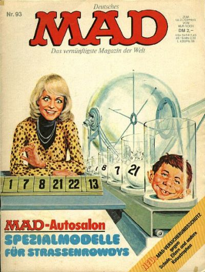 Cover for Mad (BSV - Williams, 1967 series) #93
