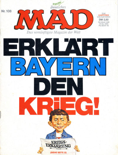Cover for Mad (BSV - Williams, 1967 series) #108