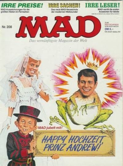 Cover for Mad (BSV - Williams, 1967 series) #208