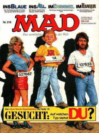 Cover for Mad (BSV - Williams, 1967 series) #219