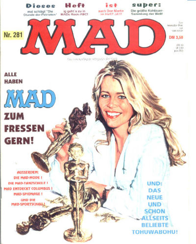 Cover for Mad (BSV - Williams, 1967 series) #281