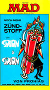 Cover for Mad-Taschenbuch (BSV - Williams, 1973 series) #13 - Noch mehr Zündstoff von Spion & Spion