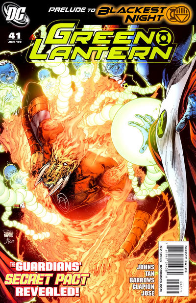Cover for Green Lantern (DC, 2005 series) #41 [Eddy Barrows Limited Variant Cover]