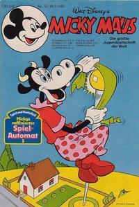 Cover Thumbnail for Micky Maus (Egmont Ehapa, 1951 series) #12/1980