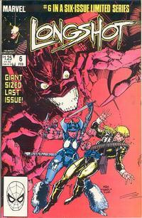 Cover Thumbnail for Longshot (Marvel, 1985 series) #6 [Direct]