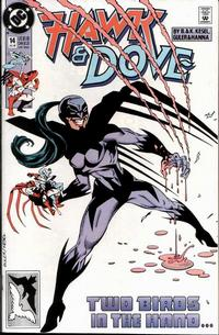Cover Thumbnail for Hawk and Dove (DC, 1989 series) #14 [Direct]