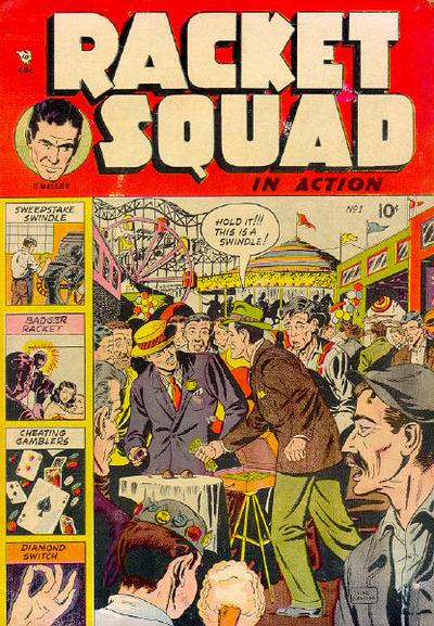 Cover for Racket Squad in Action (Charlton, 1952 series) #1