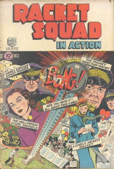 Cover for Racket Squad in Action (Charlton, 1952 series) #2