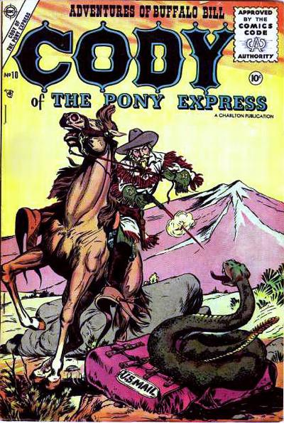 Cover for Cody of the Pony Express (Charlton, 1955 series) #10