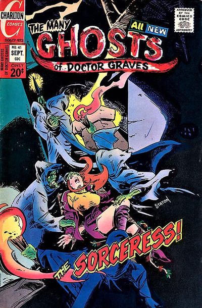 Cover for The Many Ghosts of Dr. Graves (Charlton, 1967 series) #41