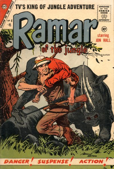 Cover for Ramar of the Jungle (Charlton, 1955 series) #4
