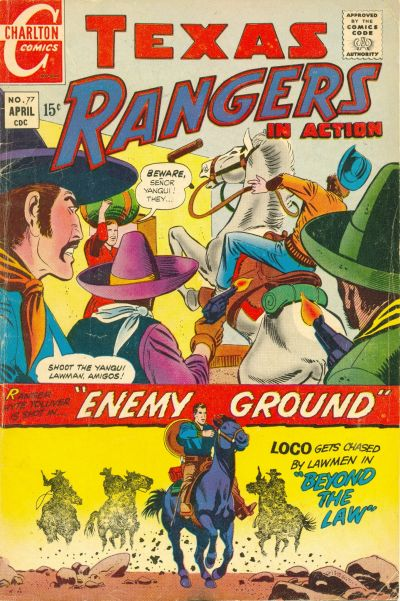 Cover for Texas Rangers in Action (Charlton, 1956 series) #77