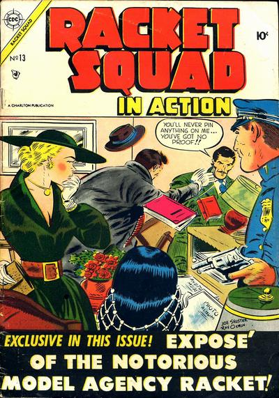 Cover for Racket Squad in Action (Charlton, 1952 series) #13