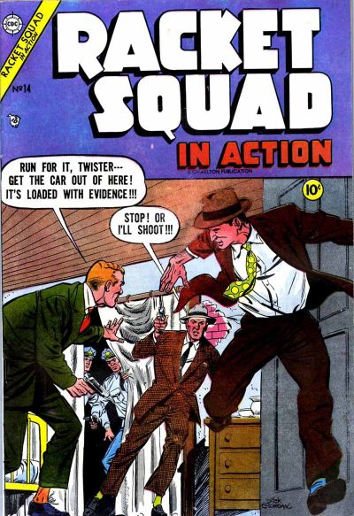 Cover for Racket Squad in Action (Charlton, 1952 series) #14