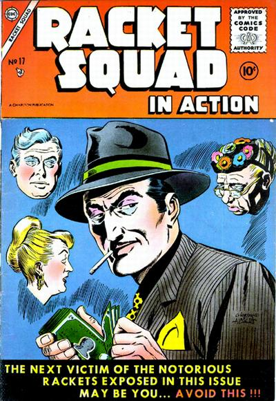 Cover for Racket Squad in Action (Charlton, 1952 series) #17