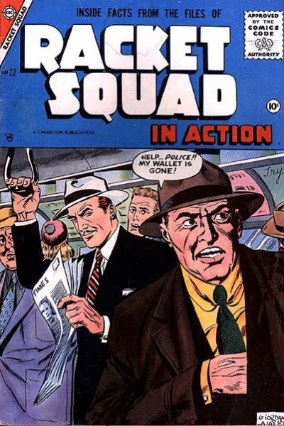 Cover for Racket Squad in Action (Charlton, 1952 series) #22