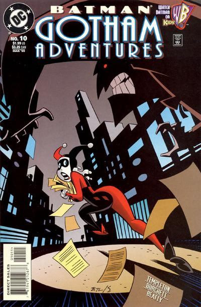 Cover for Batman: Gotham Adventures (DC, 1998 series) #10 [Direct Sales]