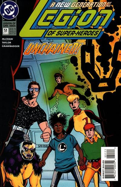 Cover for Legion of Super-Heroes (DC, 1989 series) #51