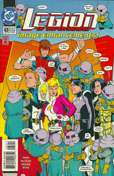 Cover for Legion of Super-Heroes (DC, 1989 series) #63