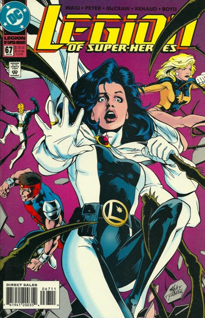 Cover for Legion of Super-Heroes (DC, 1989 series) #67
