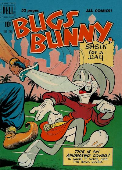 Cover for Four Color (Dell, 1942 series) #298 - Bugs Bunny in Sheik for a Day