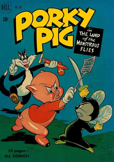 Cover for Four Color (Dell, 1942 series) #303 - Porky Pig in The Land of the Monstrous Flies