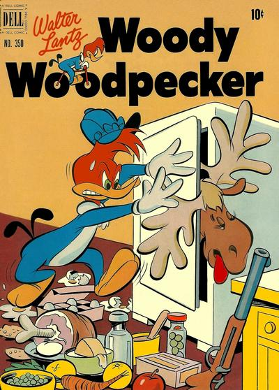 Cover for Four Color (Dell, 1942 series) #350 - Walter Lantz Woody Woodpecker
